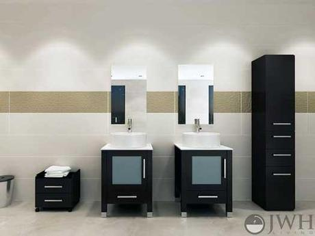 Mini Lune Small Modern Bathroom Vanity