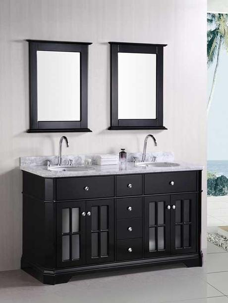 Imperial Double Vanity with Glass Doors