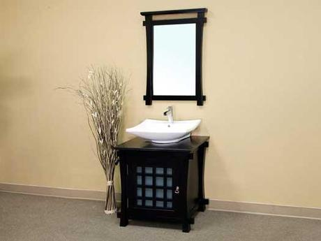 Canela Vanity with Frosted Glass Panel