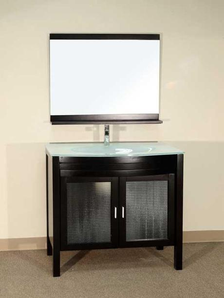 Bonito Vanity with Frosted Glass Insert Panels