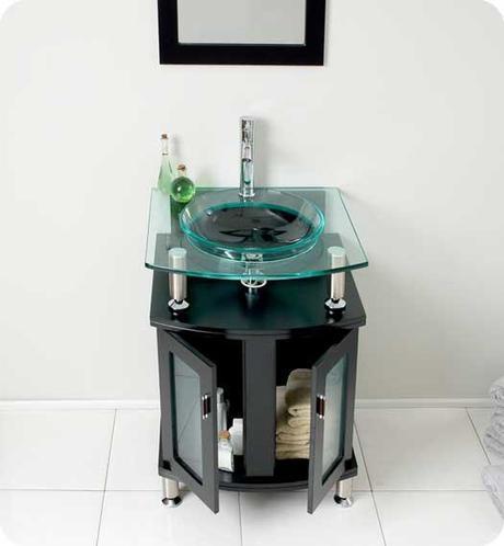 Contento Glass Bathroom Vanity