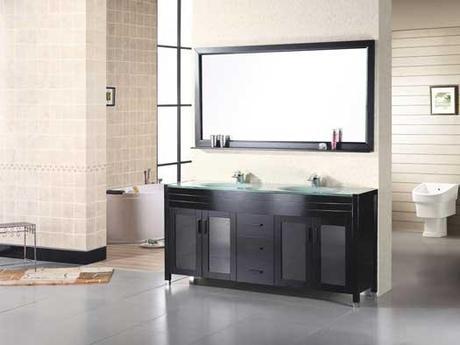 60 Inch Waterfall Double Sink Vanity
