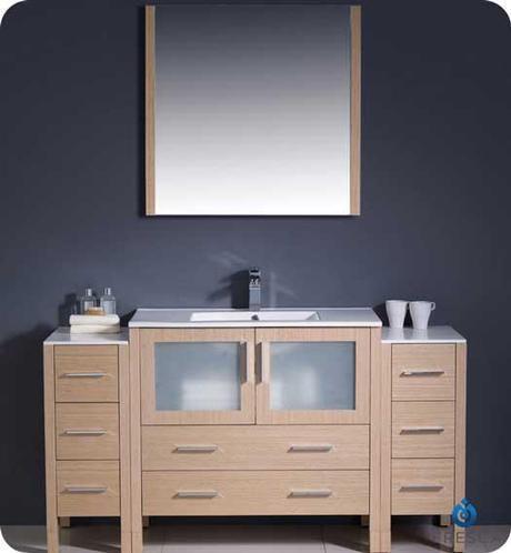 Torino Light Oak Single Sink Vanity