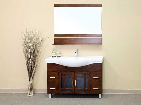 Palmas Walnut Finish Bathroom Vanity