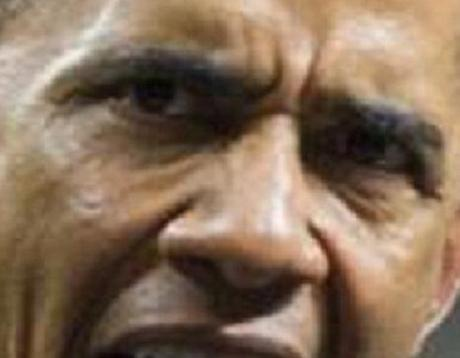 evil angry Obama eyes Oct. 2014