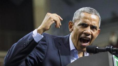 evil angry Obama