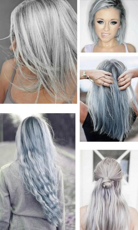 silver hair inspiration hairstyle gray silver blue shiny white hair trend silver shampoo inspiration love it