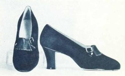 5-1930s-fashion---Ginger-Rogers-Favourite-Shoes-in-1936---green-suede-pumps