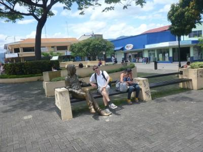 Sitting with John Lennon on his bench!