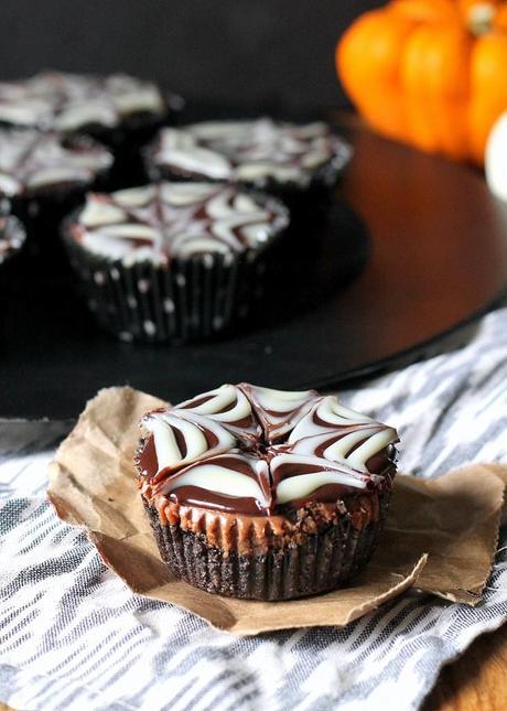 by Chocolate Mini Cheesecakes | Dark chocolate cheesecake with mini ...