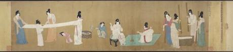 court-ladies-preparing-newly-woven-silk-mfa
