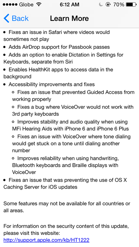 iOS 8.1 is now available for download.