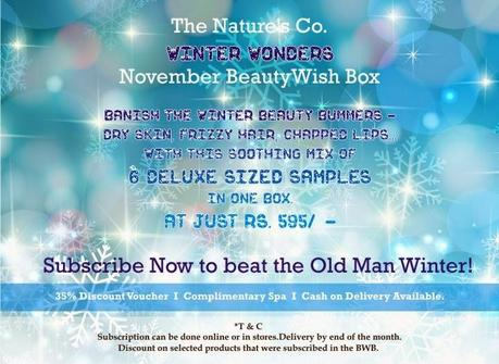 "Experience the seven ""Winter Wonders"" in The Nature's Co. November BeautyWish Box to banish the cold weather beauty blahs!"
