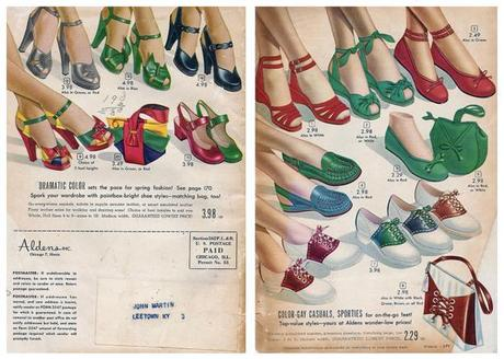 1940s shoes Aldens catalog from 1949