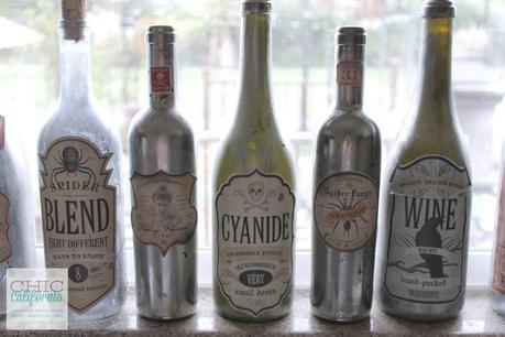 Mercury Glass Bottles
