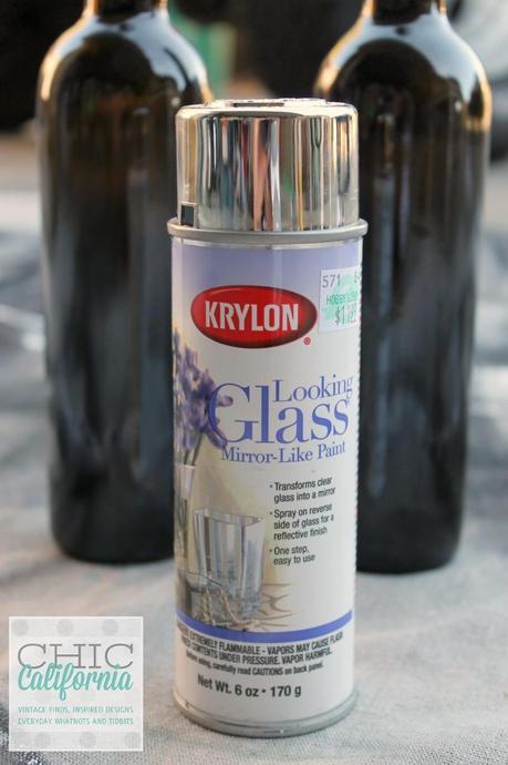 DIY Mercury Glass Poison Bottles