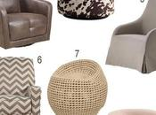 Look: Upholstered Swivel Chairs Every Color