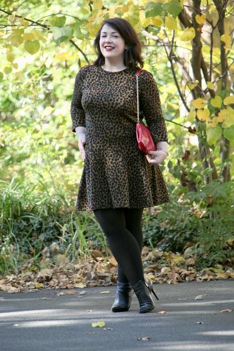 Wardrobe Oxygen What I Wore LOFT Leopard Dress
