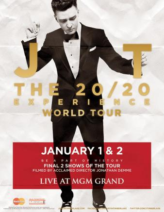 Justin Timberlake Announces 20/20 Experience World Tour DVD