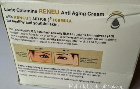 Lacto Calamine Reneu Anti Aging Cream Review.