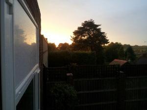summer rain sunset