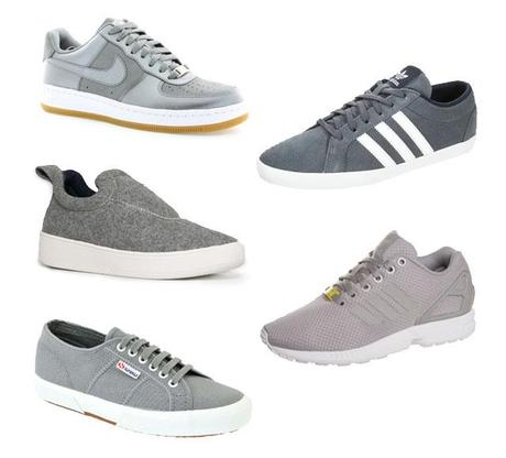 Fall footwear by turn it inside out belgian fashion blogger personal style blogger belgie belgium inspiration gray sneakers shoes silver what to wear autumn trend 2014 fall winter autumn winter AW14 fashion mode streetstyle nike air force gray silver superga gray adidas flux gray monotone adidas gazelle mango wool slip ons