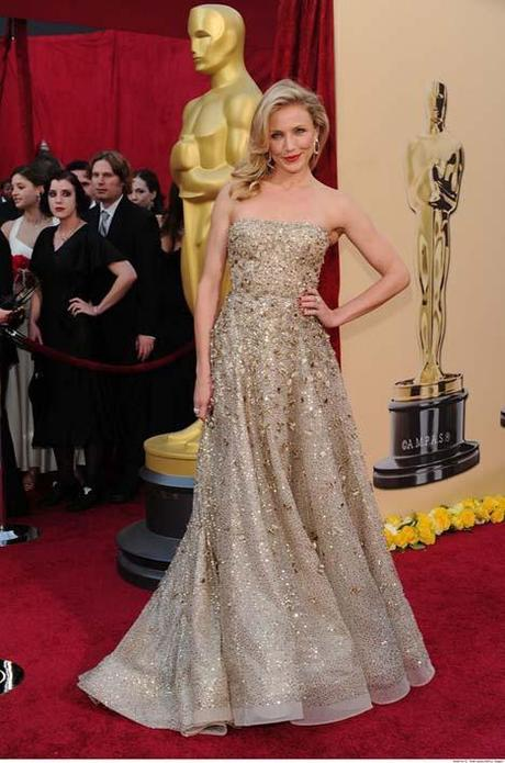 Cameron Diaz in Oscar de la Renta at the 2010 Academy Awards
