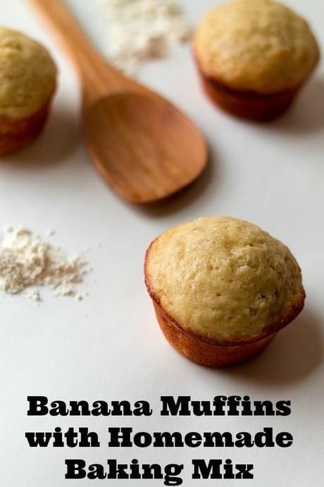 Banana Muffins Made with Homemade Baking Mix