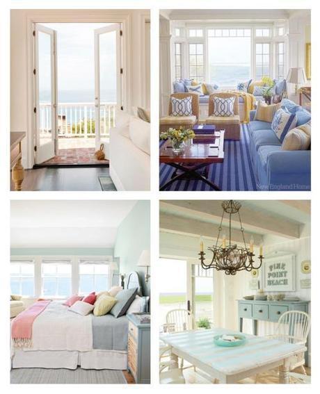 coastal seaside house inspiration moodboard