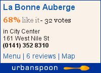 La Bonne Auberge on Urbanspoon