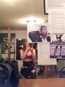Anna in the dressing room at The Flamingo Motor Inn on August 3 2014 Ian Breslin generously allowed me to dance to his music in order to raise money for children of dancers orphaned by cancer