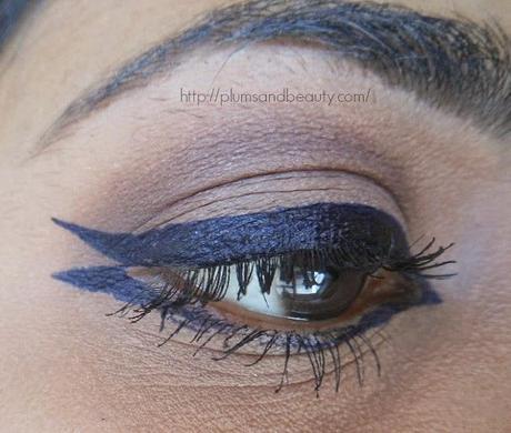 4 Ways of Styling Eyes with Oriflame The One Eyeliner Stylo Blue