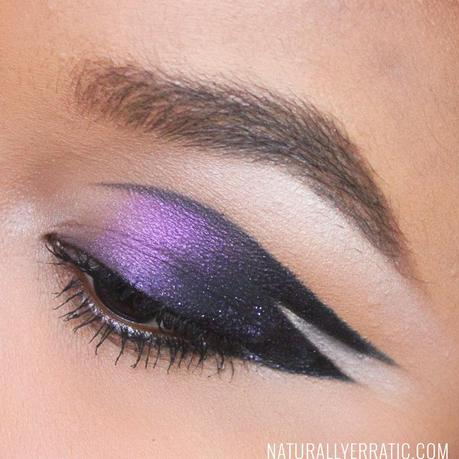 With makeup, dipbrow ebony, thick eyebrows, winged eye makeup