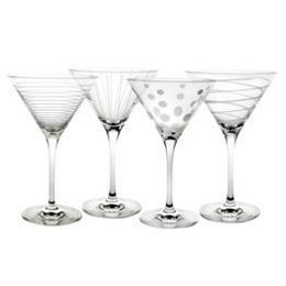Mikasa - Cheers Barware Set of 4 Martini Glasses