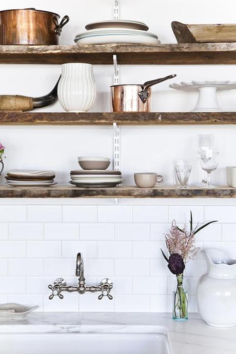 Rustic kitchen shelving inspiration | Image by Nicole Franzen