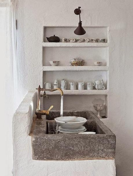Rustic kitchen shelving inspiration | Image by Albert Font via Lonny.
