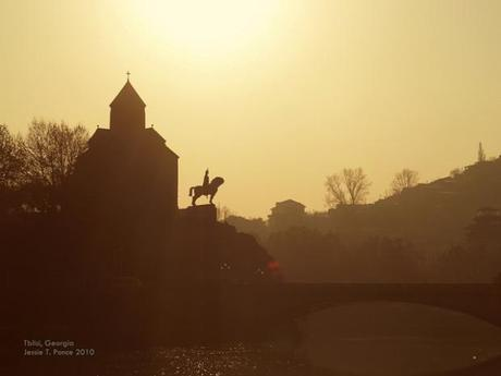 12th Century  Metekhi Church in Tbilisi, Copyright Jessie T. Ponce 2010