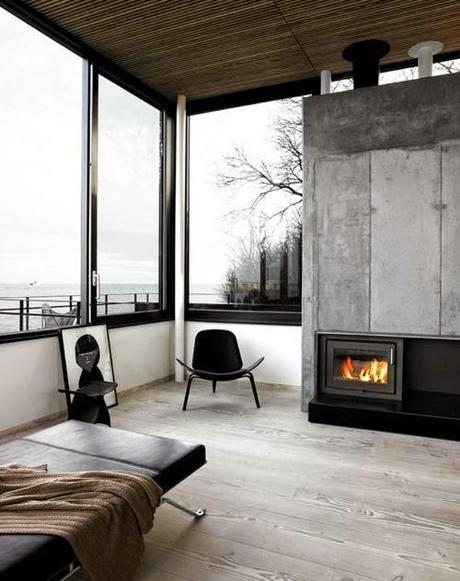 inspiration board | fireplace + beautiful view