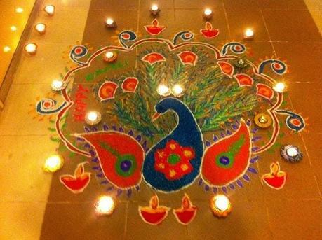 Diwali Decor With Diya Lamps