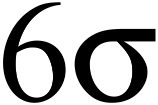 The often-used Six Sigma symbol.