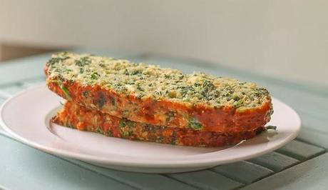 Chicken Meatloaf with Spinach and Feta Cheese