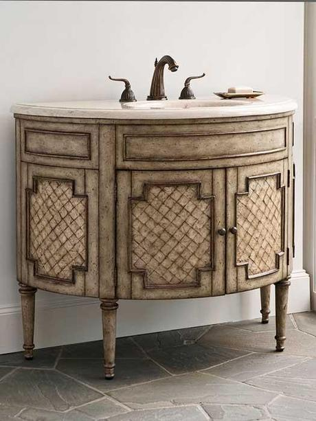 Patrician Capiz Shell Antique Rounded Vanity