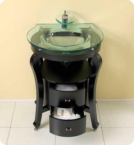 Fresca Simpatico Round Glass Vanity