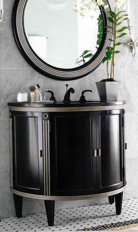Park Avenue Black and Silver Vanity