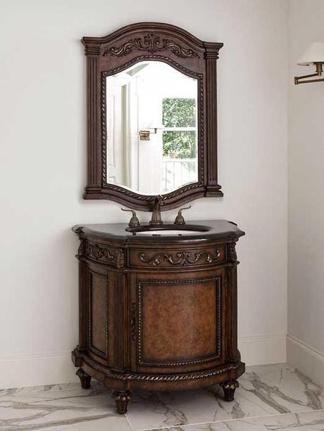 Demilune Antique Vanity