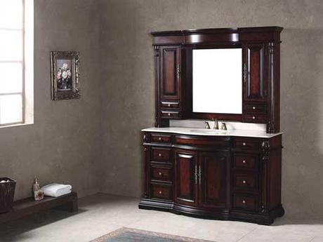 Ravenna Curved Front Vanity with Espresso Finish
