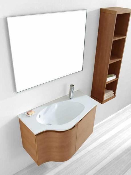 Roselle Wall Mounted Chestnut Vanity