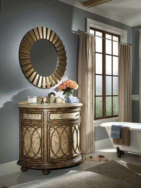 Tiffany Curved Front Bath Cabinet
