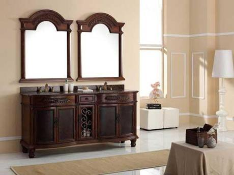 Langredo 72 inch Curved Bath Cabinet