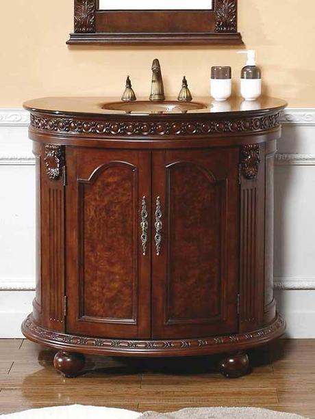 Cerceda Small Curved Bath Cabinet
